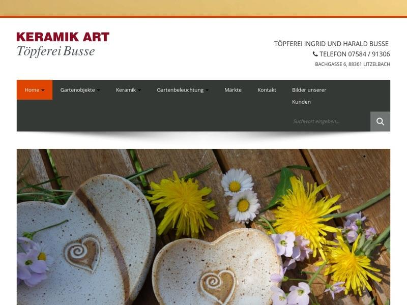 Screenshot von http://www.keramik-art.de